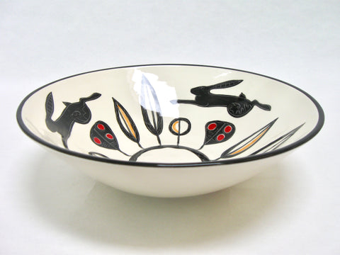 Black Hare Bowl by Louise Pettersson