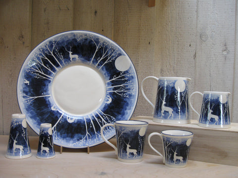 Blue Stag Ceramic set by Louise Petterrson