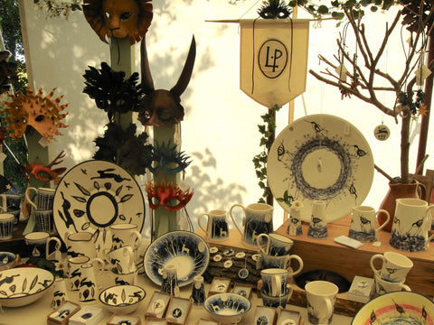Louise Pettersson craftsperson, stall at Clare Priory Craft Fair