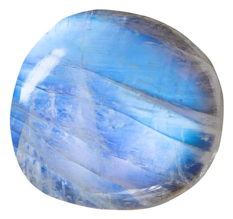 Blue moonstone, close up