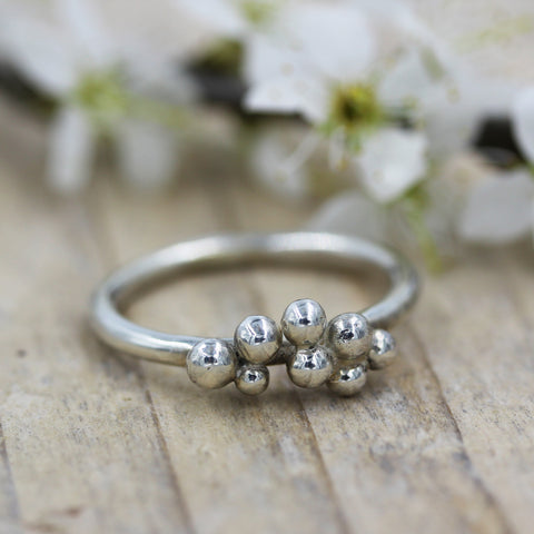 'Small Moments' ring in sterling silver by Gemma Tremayne Jewellery