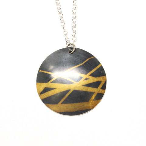 Keum Boo Necklace in 24ct gold and fine silver by Gemma Tremayne Jewellery