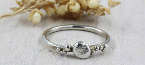 Sea inspired handmade silver ring by Gemma Tremayne Jewellery