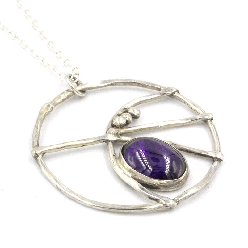 handmade, sea inspired silver and amethyst necklace by gemma tremayne jewellery
