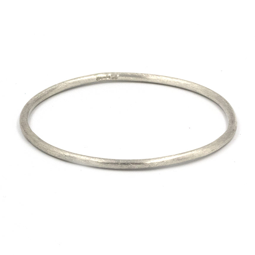 Handmade sea inspired, sterling silver bangle
