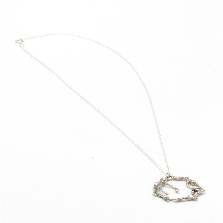 Gemstone Sea Vine Necklace, inspired by twisting vines of seaweed left on the beach as the tide recedes