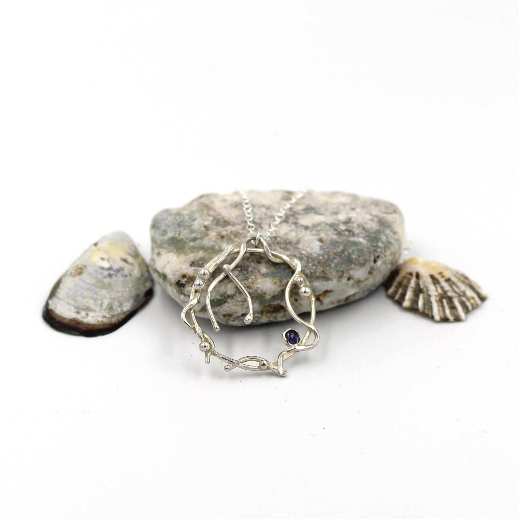 handmade, sea inspired silver necklace by gemma tremayne jewellery
