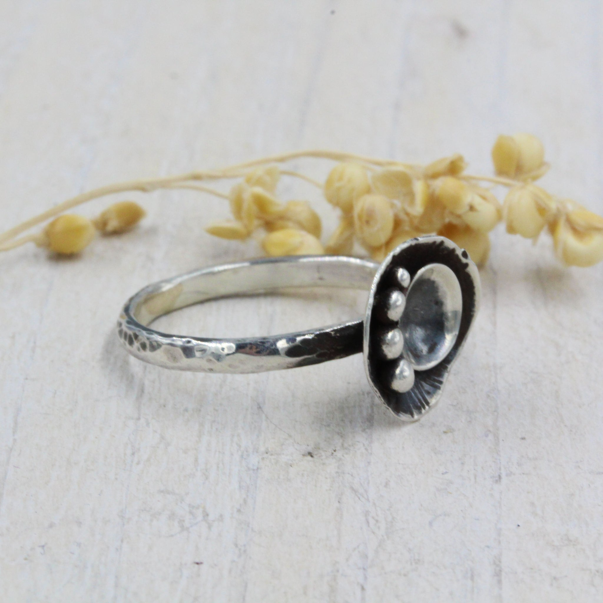 Handmade sea inspired, sterling silver ring