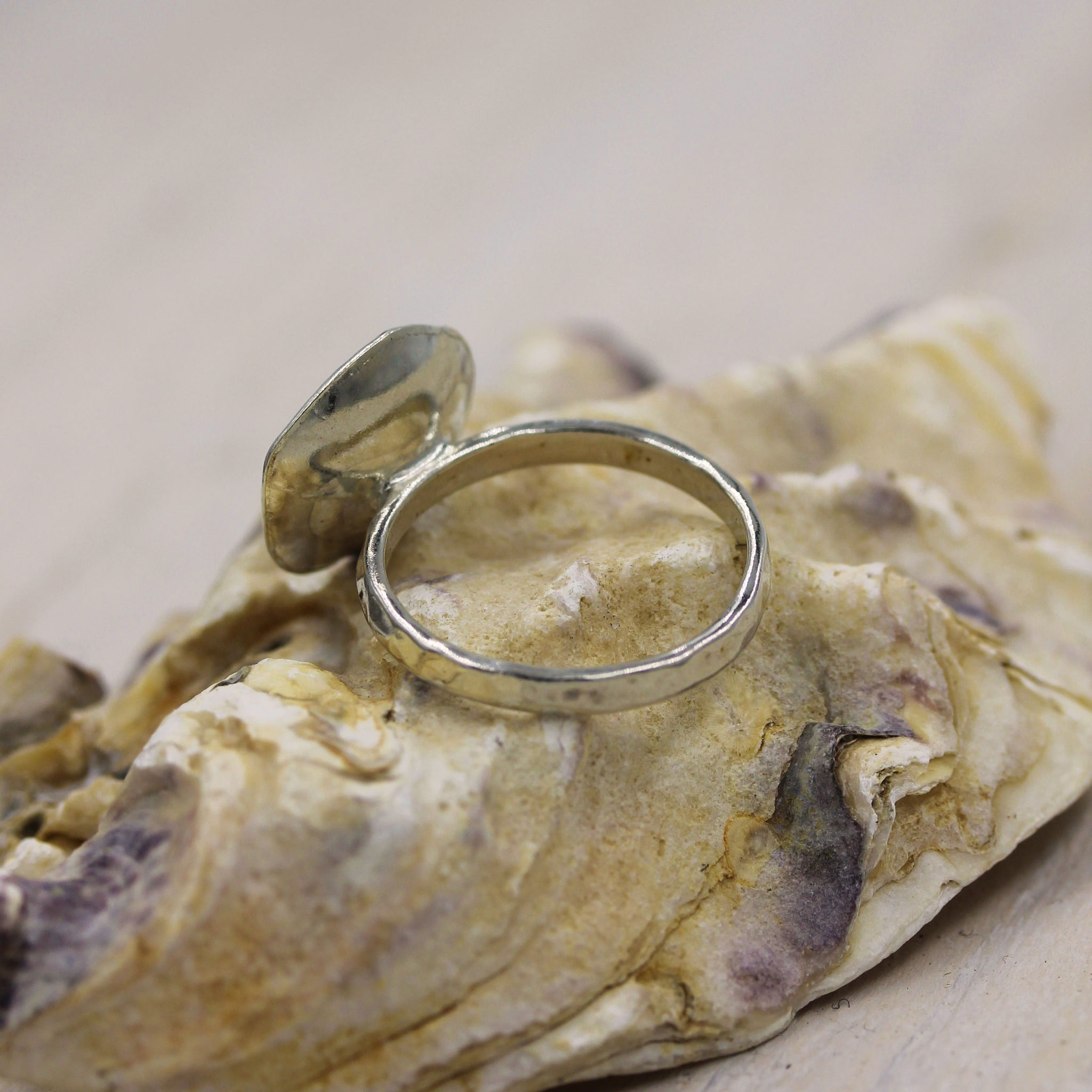 Rock Pool Ring, handcrafted sea inspired ring made in 100% recycled sterling silver, by Gemma Tremayne Jewellery