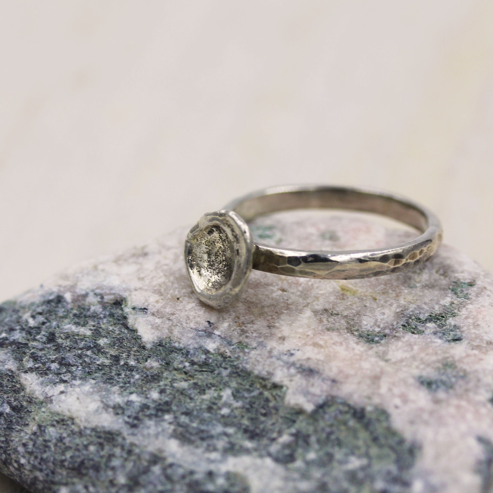 Sea inspired 'splash' ring, made in 100% recycled silver, by Gemma Tremayne Jewellery
