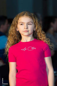 Fuscia Pink Signature Junior T-shirt