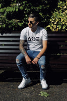 White stretch fit streetwear tshirt