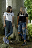 AGE Print Large Logo Crop Top