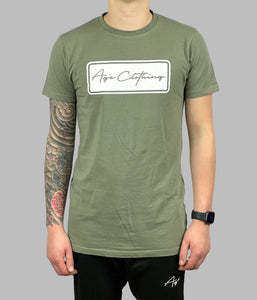 Box Logo Khaki Stretch Fit T-Shirt