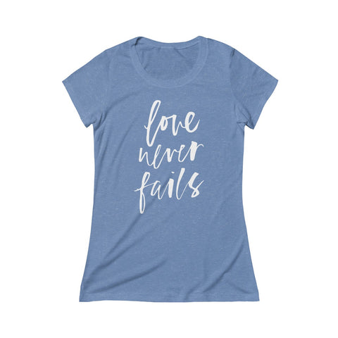 Image of Love Never Fails — Super Soft Short Sleeve Tee