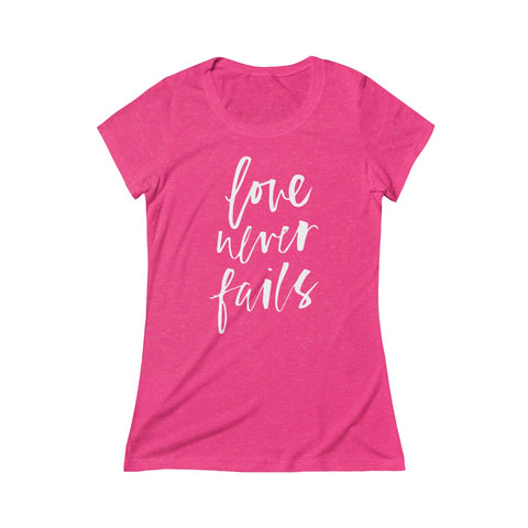 Love Never Fails — Super Soft Short Sleeve Tee