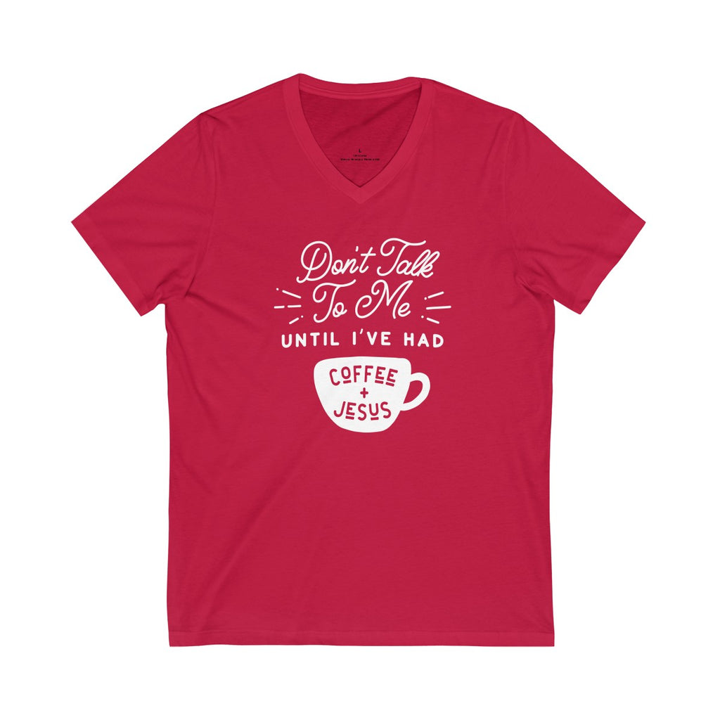 Jesus & Coffee V-Neck Tee