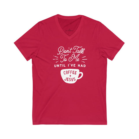 Image of Jesus & Coffee V-Neck Tee