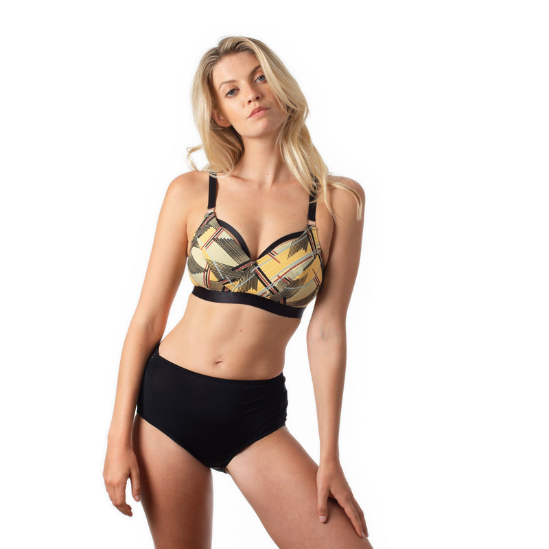Escapist Print nursing bra with magnetic clips from Projectme