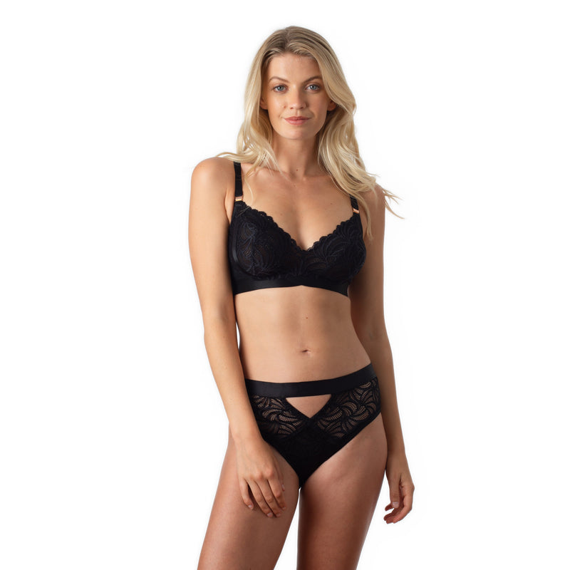 WARRIOR BLACK SOFT CUP NURSING BRA - WIREFREE