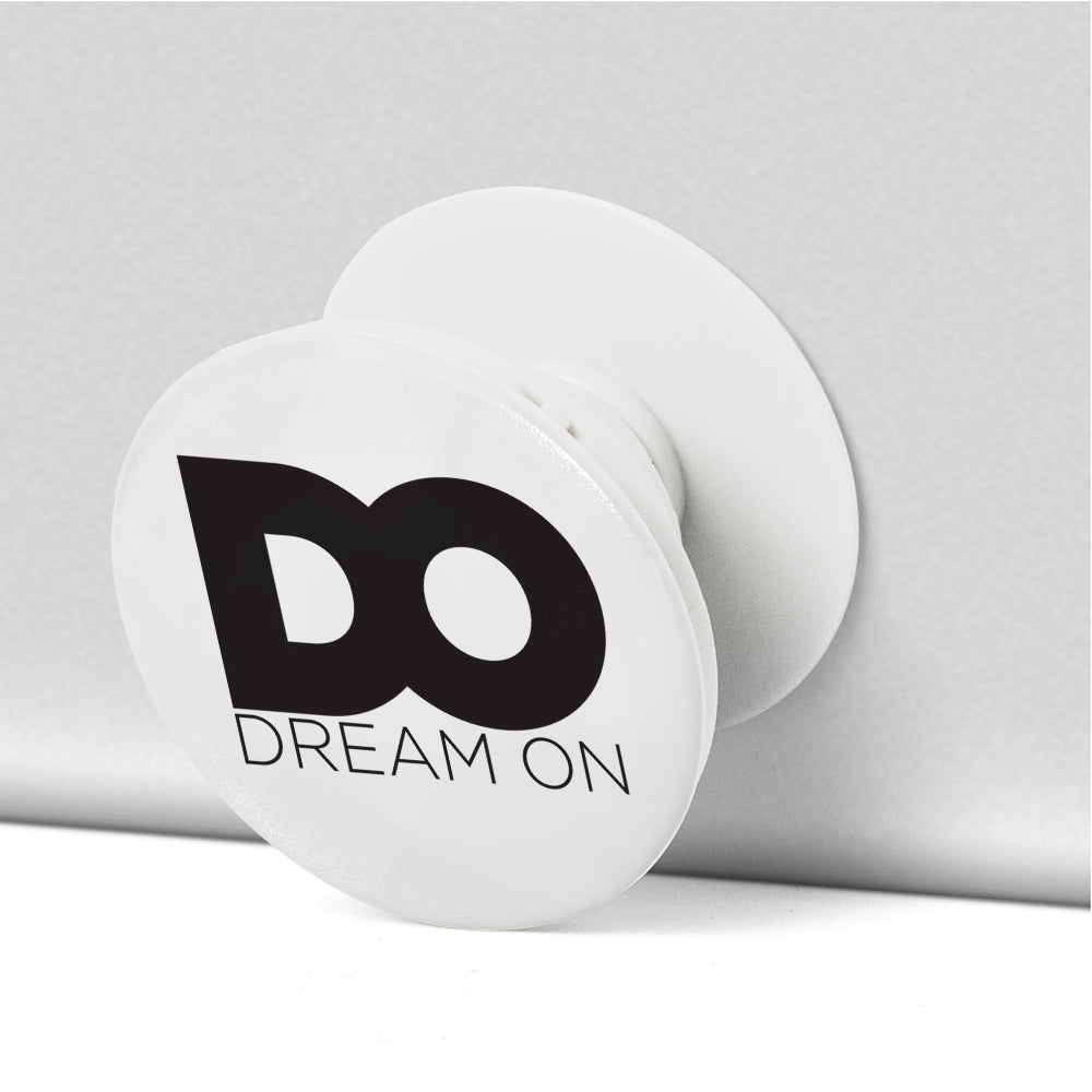 Dream On White Collapsible Grip & Stand for Phone