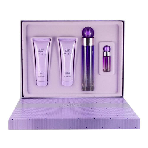 Set 360 Purple Dama Perry Ellis 4 Pz | PriceOnLine