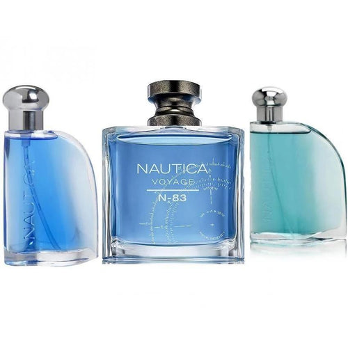 Paquete 3 Perfumes 3X1 Nautica Voyage N-83 + Blue + Classic Caballero 100 ml Edt Spray | PriceOnLine