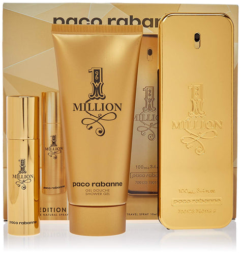 Set One Million Caballero Paco Rabanne 3 Pz (100 ml + 10 ml + gel de ducha) | PriceOnLine
