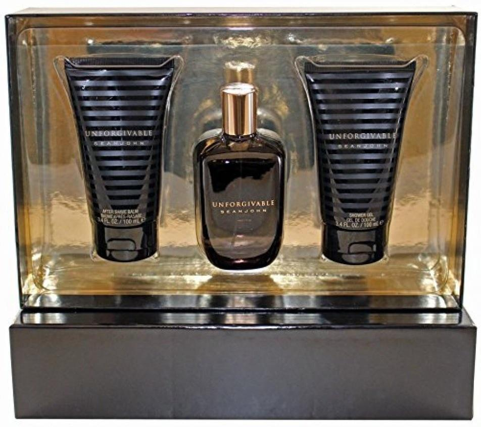 4714-Set Unforgivable Caballero Sean John 3 Pz ( Perfume 125 ml. Gel De Ducha 100 ml Y After Shave De 100 ml) Perfumes PriceOnLine.mx