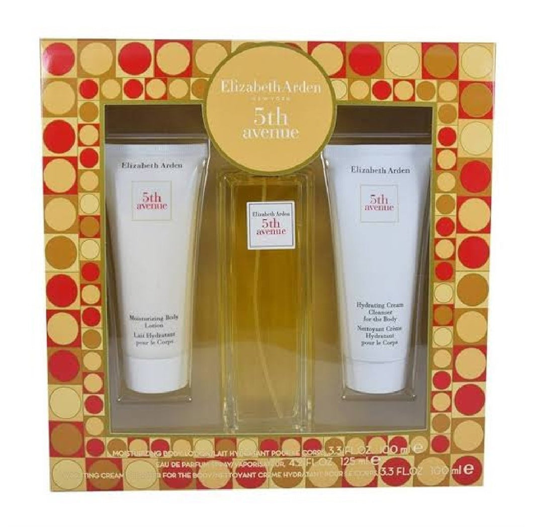 Set 5Th Avenue Dama Elizabeth Arden 3 Pz ( Perfume 125 ml, Crema 100 ml Y Locion Crema 100 ml ) - PriceOnLine