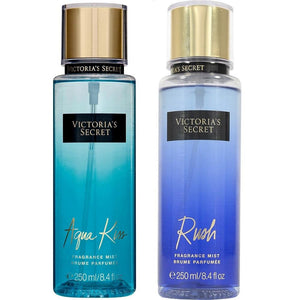 5065-Duo Aqua Kiss + Rush Body Mist 250 ml Victoria Secret Perfumes PriceOnLine.mx