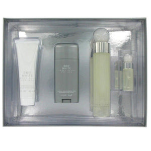 1052-Set 360 White 4 Pz Caballero Perry Ellis Perfumes PriceOnLine.mx