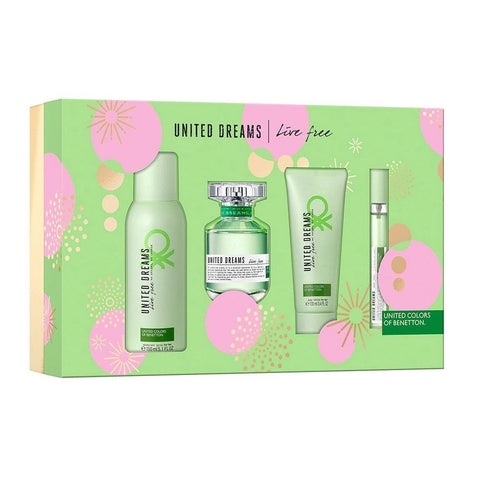 Set United Dreams Live Free Dama Benetton 4 Pz | PriceOnLine