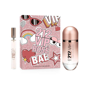 Set 212 Vip Rose Dama Carolina Herrera 2 pz (80 ml edp + 10 ml edp) | PriceOnLine