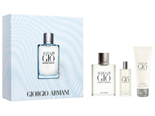Set Acqua Di Gio Caballero Giorgio Armani 3 Pz (100 ml + 15 ml + After 100 ml) | PriceOnLine