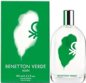 1377-Benetton Verde Caballero 100 ml Spray Edt Spray Perfumes PriceOnLine.mx