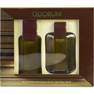 Set Quorum Caballero Antonio Puig 2pz (100 ml edt + 100 ml after shave) | PriceOnLine