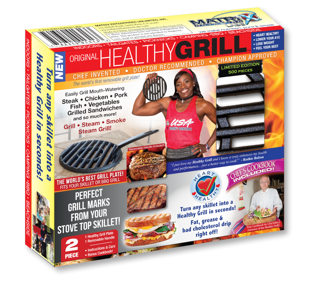 Original Cast Iron Healthy Grill - ONLY $24.99 with FREE Shipping!