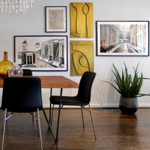 Design room interior - le d'Arte - hand painted artwork modern original