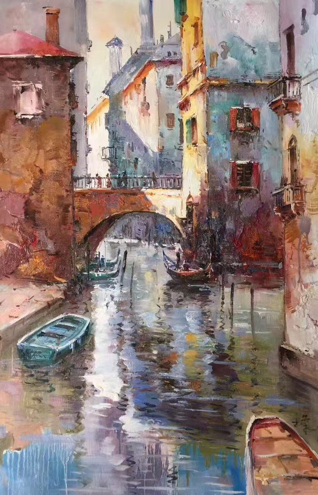 Venice Oil Painting | Wall Art on Canvas - le d'Arte - hand painted artwork modern original