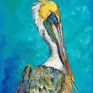 Bird Pelican Oil Painting | Wall Art on Canvas - le d'Arte - hand painted artwork modern original