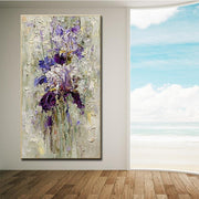 Bold Violet Wall Art | Thick Flower Artwork | Canvas Painting - le d'ARTe