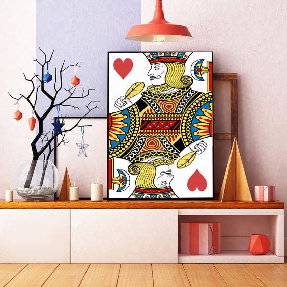 Jack Playing Card Oil Painting on Canvas | Hand Painted Poker Wall Art - le d'Arte - hand painted artwork modern original