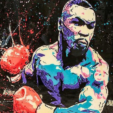 Mike Tyson Figure Boxing King Oil Painting | Wall Art on Canvas - le d'ARTe