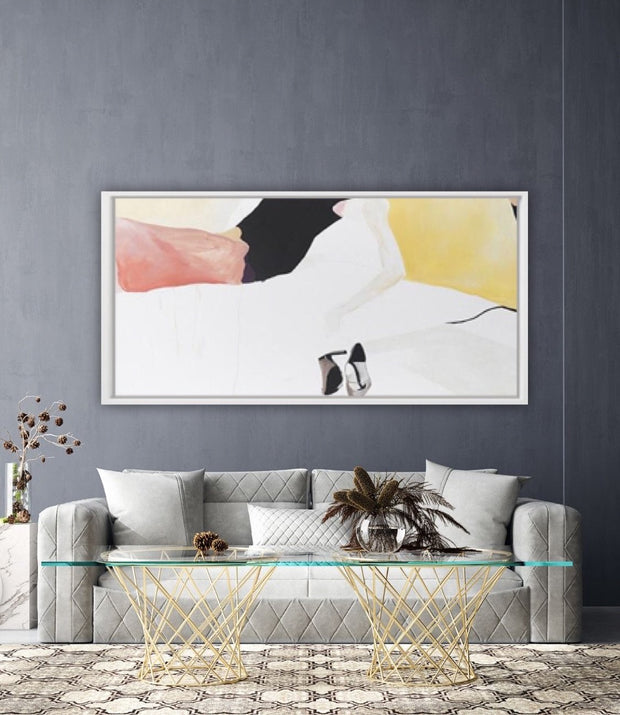 After a Long, Hard Night Simple Abstract Oil Painting | Wall Art on Canvas - le d'Arte - hand painted artwork modern original