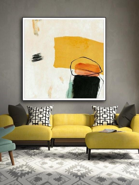 Colorful Contemporary Design Abstract Oil Painting | Canvas Wall Art - le d'ARTe