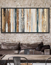 Contemporary Golden Abstract Wall Art | Oil Painting on Canvas - le d'ARTe