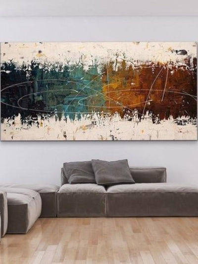 Palette Knife Contemporary Abstract Oil Wall Art | Canvas Painting - le d'Arte - hand painted artwork modern original