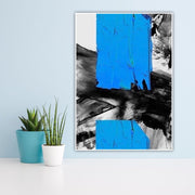 The Blue Stripe of Life Abstract Wall Art | Canvas Oil Painting - le d'ARTe