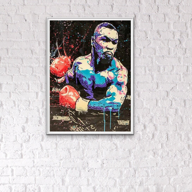 Mike Tyson Figure Boxing King Oil Painting | Wall Art on Canvas - le d'Arte - hand painted artwork modern original